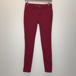 AMERICAN EAGLE OUTFITTERS Dar Red Jegging 2